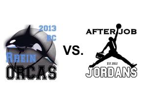 Am 16. November spielten die Rhein Orcas gegen die After Job Jordans.
